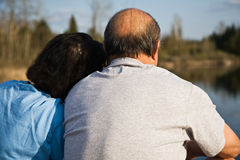 亚裔夫妇前辈 免版税库存图片