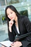 亚裔女商人 免版税图库摄影