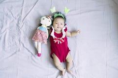 亚裔女婴15 库存照片