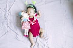 亚裔女婴17 库存图片