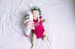 亚裔女婴18 库存照片