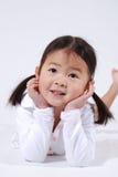 亚裔女孩一点 库存图片