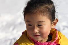 亚裔女孩一点 免版税库存照片