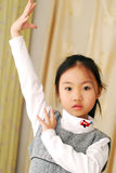 亚裔女孩一点 免版税库存图片