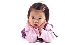 亚裔女孩一点 库存照片