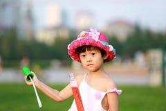 亚裔女孩一点 图库摄影