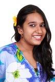 亚裔女孩好的微笑年轻人 免版税库存照片