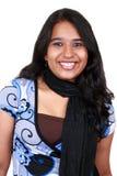 亚裔女孩好的微笑年轻人 免版税库存图片