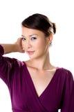 亚裔女孩性感的凝视 免版税图库摄影