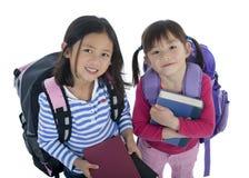 亚裔女孩教育年轻人 免版税库存照片