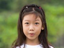 亚裔女孩纵向  图库摄影