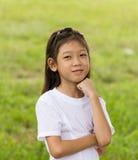 亚裔女孩纵向  免版税图库摄影