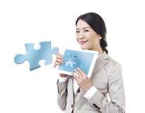 亚裔女实业家 库存图片