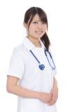 年轻亚裔女性护士 库存照片