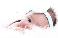 亚裔女婴 图库摄影