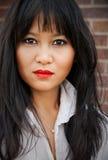 亚裔妇女画象  免版税图库摄影