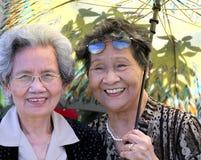亚裔姐妹 免版税库存图片