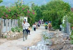 亚裔孩子,越南乡下学生 免版税库存照片