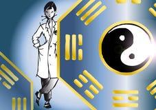 亚裔工作系列治疗学家 免版税图库摄影