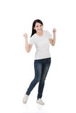 亚裔快乐的妇女 免版税库存图片