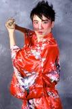 亚裔战士 图库摄影