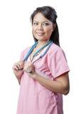 亚裔护士 免版税库存照片