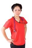 亚裔护士 库存图片