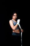 亚裔拳击手女性 免版税库存照片