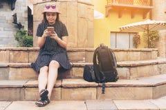 亚裔旅行家在罗马,意大利 免版税库存图片