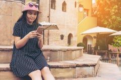 亚裔旅行家在罗马,意大利 免版税库存照片