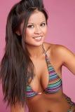 亚裔比基尼泳装妇女 库存照片