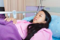 亚裔河床女性患者 库存照片