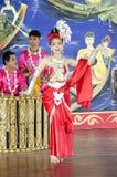 亚裔泰国妇女古典泰国舞蹈或公羊泰国为展示trave 库存照片