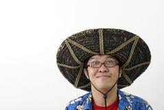 亚裔滑稽的人 免版税库存图片