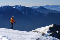 亚裔滑雪者 图库摄影