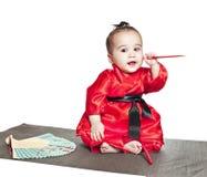 亚裔男婴 免版税图库摄影
