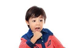 亚裔男孩一点 图库摄影