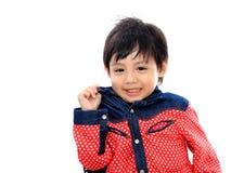 亚裔男孩一点 库存照片