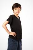年轻亚裔男孩 免版税库存图片