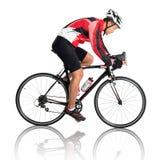 亚裔男性骑自行车者 库存图片