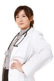 亚裔确信的医生 免版税库存照片