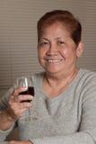亚裔祖母前辈妇女 免版税图库摄影