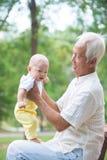 亚裔祖父 免版税库存照片