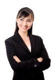 亚裔美丽的女商人 免版税库存照片