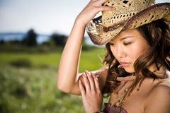 亚裔美丽的女孩 图库摄影
