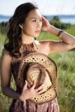 亚裔美丽的女孩 库存图片