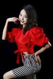 亚裔美丽的女孩 免版税图库摄影