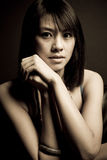 亚裔美丽的妇女 免版税库存图片