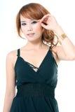 亚裔美丽的妇女 免版税图库摄影