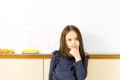亚裔美国人女孩在学校 免版税库存图片